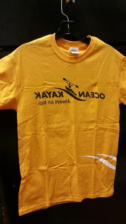Ocean Kayak T Shirt Yellow, Always on Top. choose size