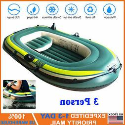 Three Person Inflatable Kayak Canoe Rowing Air Boat Fishing