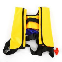Inflatable Yellow Aid Life Jackets Sailing Kayak Marine Life