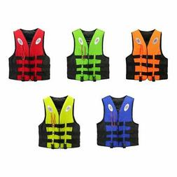 US Adult Kids Life Jacket Kayak Ski Buoyancy Aid Vest Sailin