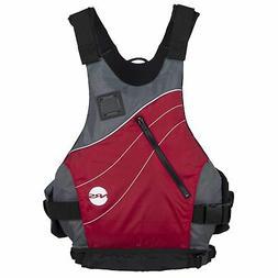 """NRS VAPOR Low-Profile PFD Life Vest - RED S/M Fits 33-40"""" ch"""