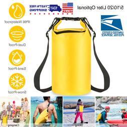 Waterproof Dry Bag - 5L/10L/20L for Beach, Kayak, Fishing, C