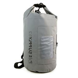 Buhbo Waterproof Dry Bag for Kayak Canoe Backpack Duffle, 15