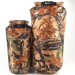 8L Camo Waterproof Dry Bag Storage Sack Pouch Kayak Camping