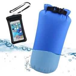 Waterproof Phone Case Float Pouch+8L Dry Bag for Rafting Boa