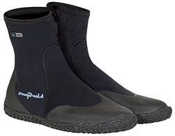 NeoSport Wetsuits Premium Neoprene 3mm Hi Top Zipper Boot, B