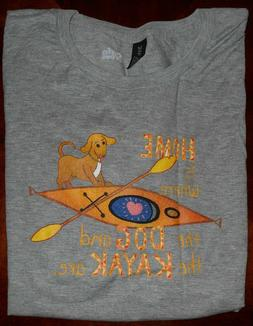 Where The Dog And Kayak Are - Home Is where Tee T-Shirt size