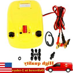 Yellow High 12V Electric Pressure Air Pump For Inflatable Bo