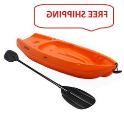 Youth Kayak Bonus Paddle Lifetime Kids Wave 6' Stable Orange